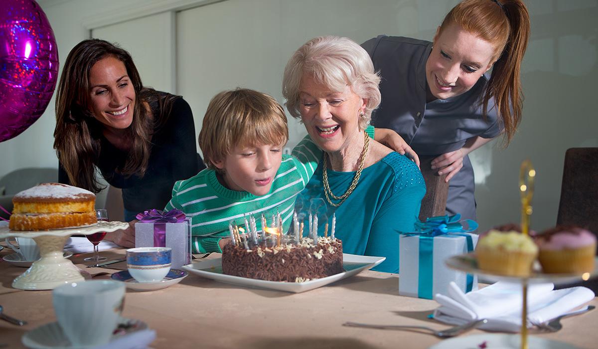 A Cherry Wood Grange resident celebrates a birthday