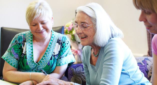 A patienet reciving dementia care at Cherry Wood Grange Care Home